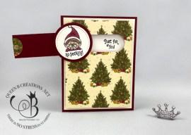 #Elfie Simple Slider Christmas Card