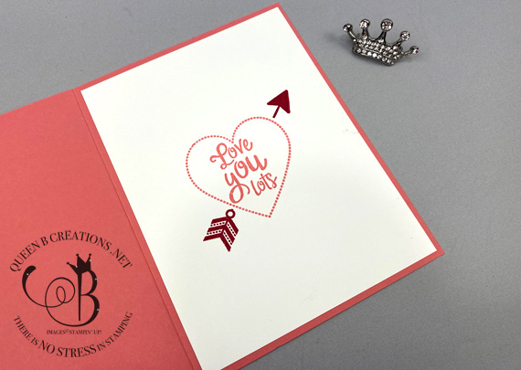 Stampin' Up! Heartfelt Valentines day card by Lisa Ann Bernard of Queen B Creations