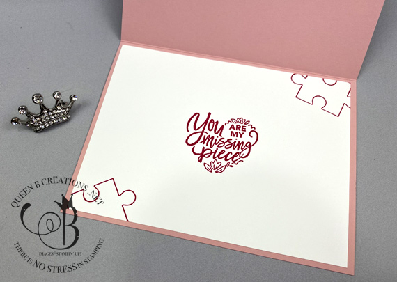 Stampin' Up! Love You To Pieces handmade Valentines Day card by Lisa Ann Bernard of Queen B Creations