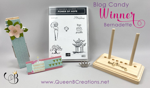 Queen B Creations March 2020 Pals Blog Hop Mystery Blog Candy Winner