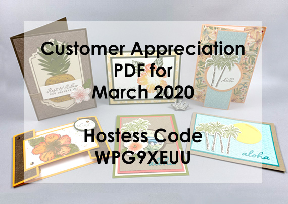 Stampin' Up! customer appreciation PDF free tutorials with a $30 order from Queen B Creations
