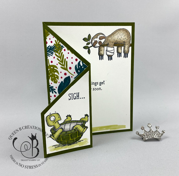 Stampin' Up! Back On Your Feet fun fold / fancy fold card by Lisa Ann Bernard of Queen B Creations for the pals blog hop