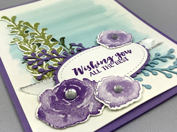 Stampin' Up! First Frost Frosted Bouquet Winter card by Lisa Ann Bernard of Queen B Creations