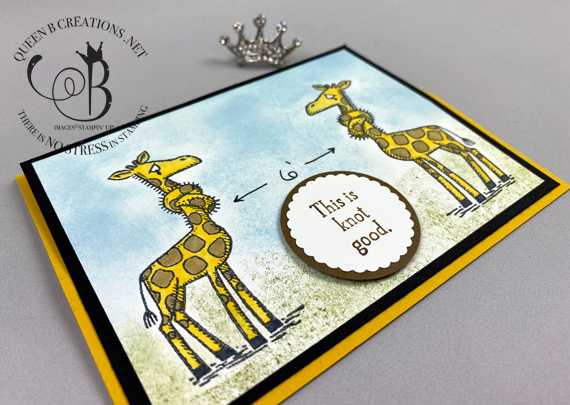Stampin' Up! Back On Your Feet social distancing giraffes mirror stamping technique by Lisa Ann Bernard