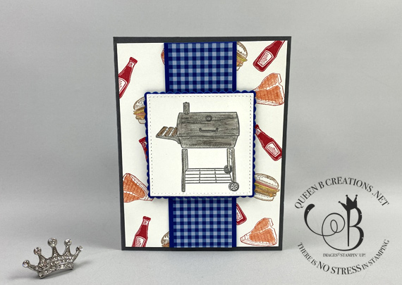 Stampin' Up! Outdoor Barbeque Grill masculine card by Lisa Ann Bernard of Queen B Creations