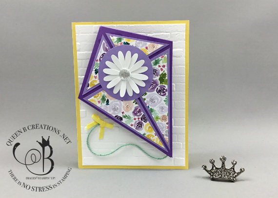 Stampin' Up! Dressed to Impress DSP Kite Fold Card by Lisa Ann Bernard of Queen B Creations