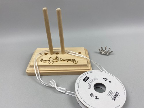 Bow Maker Tool, Made by Marc Bernard for Lisa Ann Bernard Ind Stampin' Up! Demo of Queen B Creations