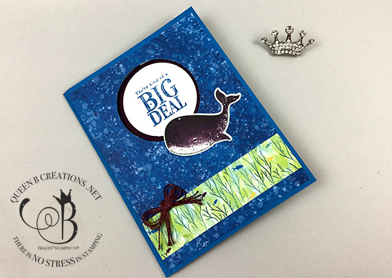 Stampin' Up! Whale Done Peek-a-boo swing card by Lisa Ann Bernard of Queen B Creations