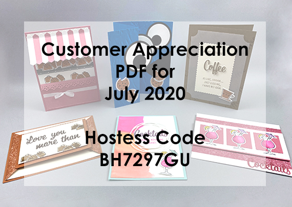July 2020 Customer Appreciation PDF FREE with a $30 or more order from Lisa Ann Bernard of Queen B Crewations