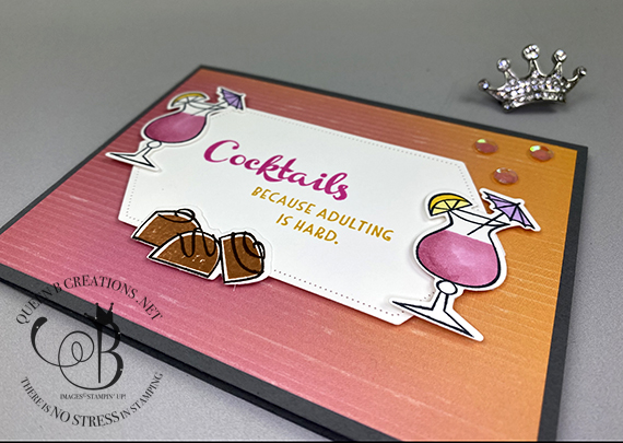 Stampin' Up! Nothing's Better Than Cocktails card by Lisa Ann Bernard of Queen B Creations