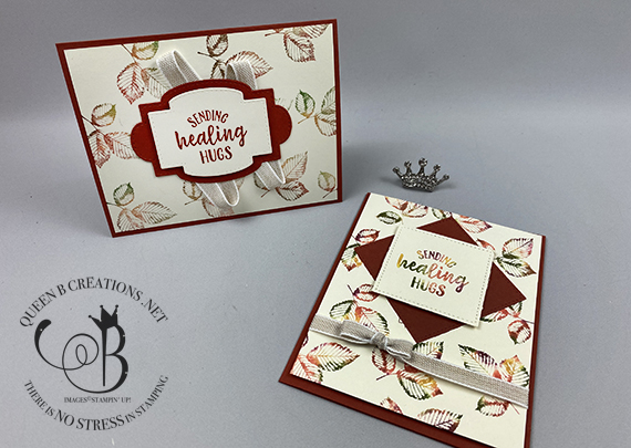 Stampin' Up! Rooted In Nature Fall Baby Wipe Technique with Video by Lisa Ann Bernard of Queen B Creations