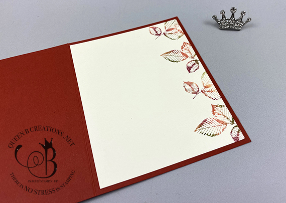 Stampin' Up! Rooted In Nature Fall Baby Wipe Technique Birthday Card by Lisa Ann Bernard of Queen B Creations