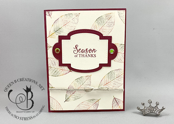Stampin' Up! So Sentimental Rooted in Nature Baby Wipe Technique by Lisa Ann Bernard of Queen B Creations