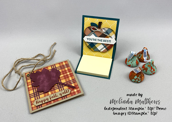 Stampin' Up! gift bag with mini post it and gift tag by Melinda Matthews of Creative Royalty for Queen B Creations