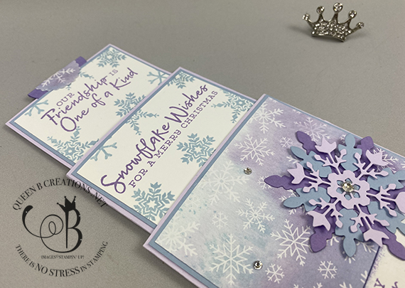 Stampin' Up! Snowflake Wishes Triple Slider Card made by Lisa Ann Bernard of Queen B Creations