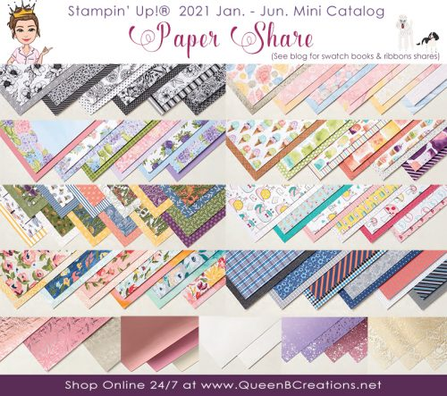 Stampin' Up! January to June Mini Catalog Paper Share & Swatch books by Lisa Ann Bernard of Queen B Creations