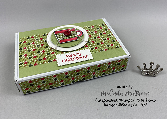 Stampin' Up! Mini Paper Pumpkin Box Press On Heartwarming Hugs gift by Melinda Matthews for Queen B Creations