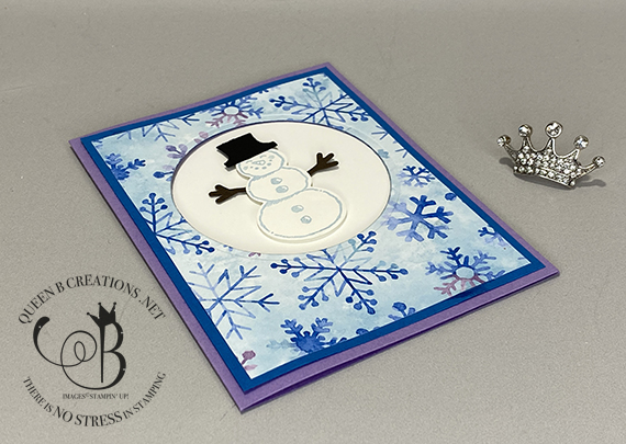 Stampin' Up! Snowman Season Snowman Builder Punch spinner card by Lisa Ann Bernard of Queen B Creations