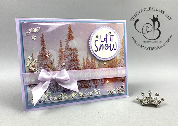 Stampin' Up! Snowman Season Feels Like Frost Simple Shaker Card by Lisa Ann Bernard of Queen B Creations