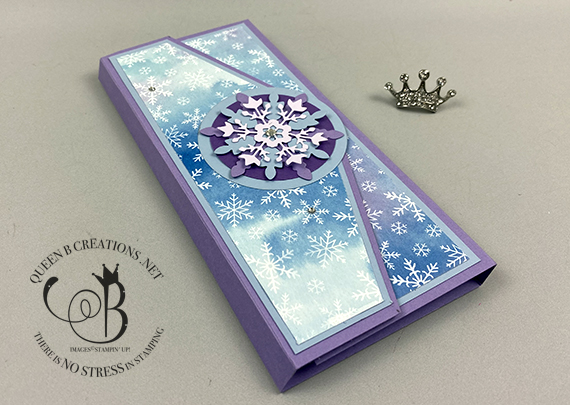 Stampin' Up! So Many Snowflake Splendor notepad cover by Lisa Ann Bernard of Queen B Creations