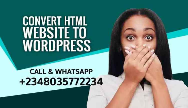 Convert HTML Website to WordPress1