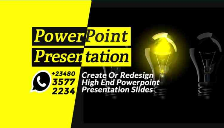Create Or Redesign High End Powerpoint Presentation Slides