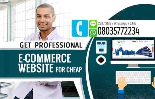 E-commerce Website For Cheap