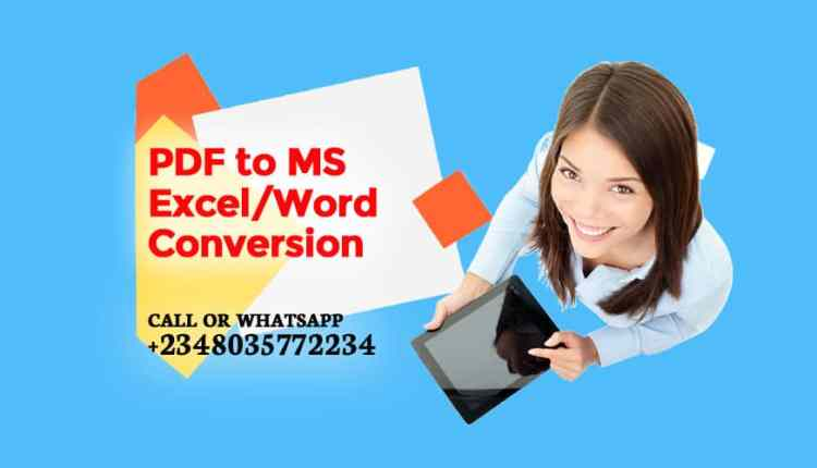 PDF to MS Excel or Word conversion