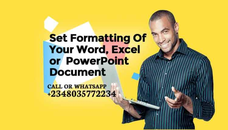Set Formatting Of Your Document