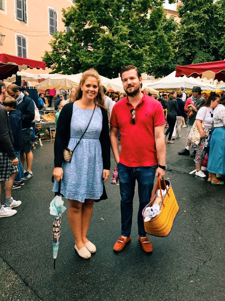 Market Day in Cahors with Jeffrey and Florence - Yes, there was Rain