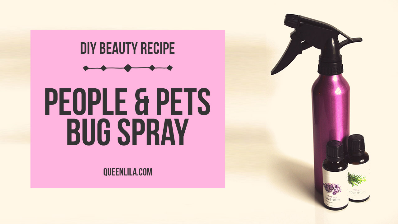 Make your own all-natural people & pets bug spray. Click through for the how-to! | Queen Lila