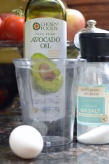 Avocado oil, beaker, and salt