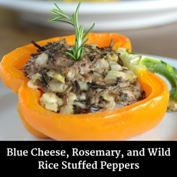 Blue Cheese, Rosemary, and Wild Rice Stuffed Peppers