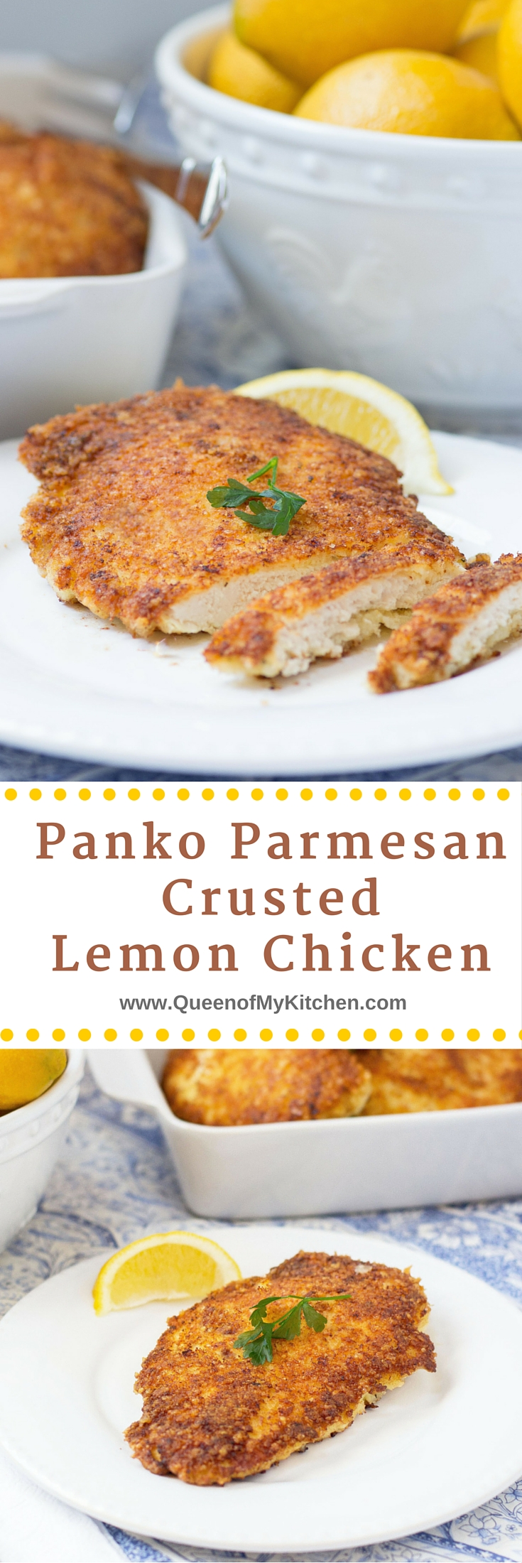 Parmesan Crusted Chicken Recipe Panko Parmesan Crusted Lemon Chicken  Queen Of My Kitchen