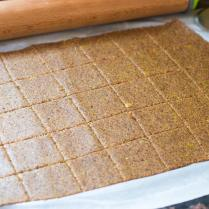Sweet Potato Flax Crackers