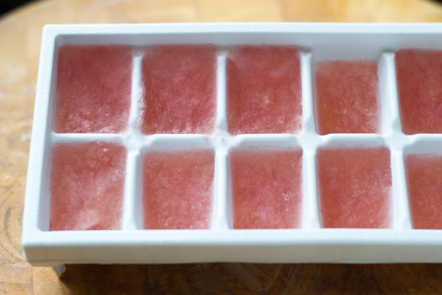 Frozen Raspberry Rosé - Frosty, light, and refreshing. A new way to enjoy rosé. | www.QueenofMyKitchen.com