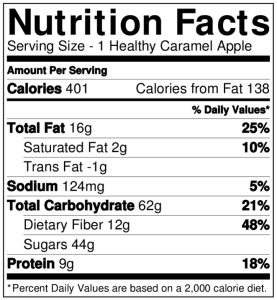 Healthy Caramel Apples