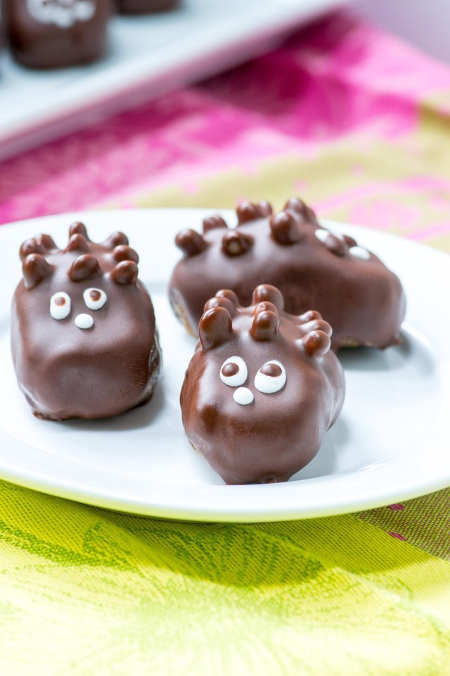 """Healthy Hedgehog Candies – A small bite treat made with healthy ingredients that you can enjoy guilt-free. If you have kids they'll never know this isn't """"real"""" candy. 
