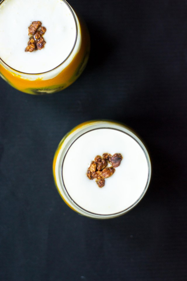 Apricot Ginger Turmeric Smoothie - #AD. A beautiful, nutrituous smoothie you can make in 5 minutes with canned fruit. Super convenient and incredibly delicious.   QueenofMyKitchen.com