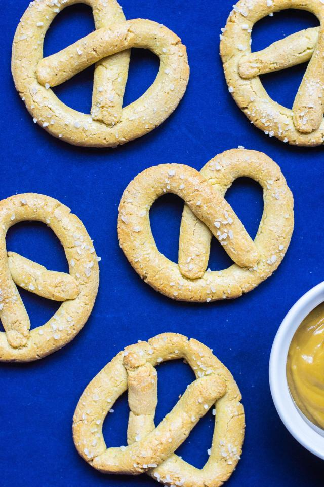 Chickpea Pretzels - An all-American snack made healthier and gluten-free with the help of protein and fiber rich chickpea flour. | QueenofMyKitche.com