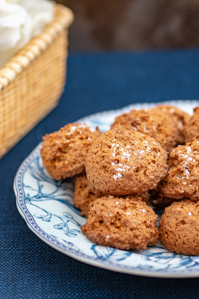 Double Coconut Macaroons – 3 ingredient macaroon cookies sweetened with coconut palm sugar. Gluten-free, dairy free, and paleo friendly. | QueenofMyKitchen.com | #macaroons #coconutmacaroons #coconutsugar #coconutpalmsugar #glutenfree #glutenfreecookies #dairyfree #dairyfreecookies #paleo #paleocookies