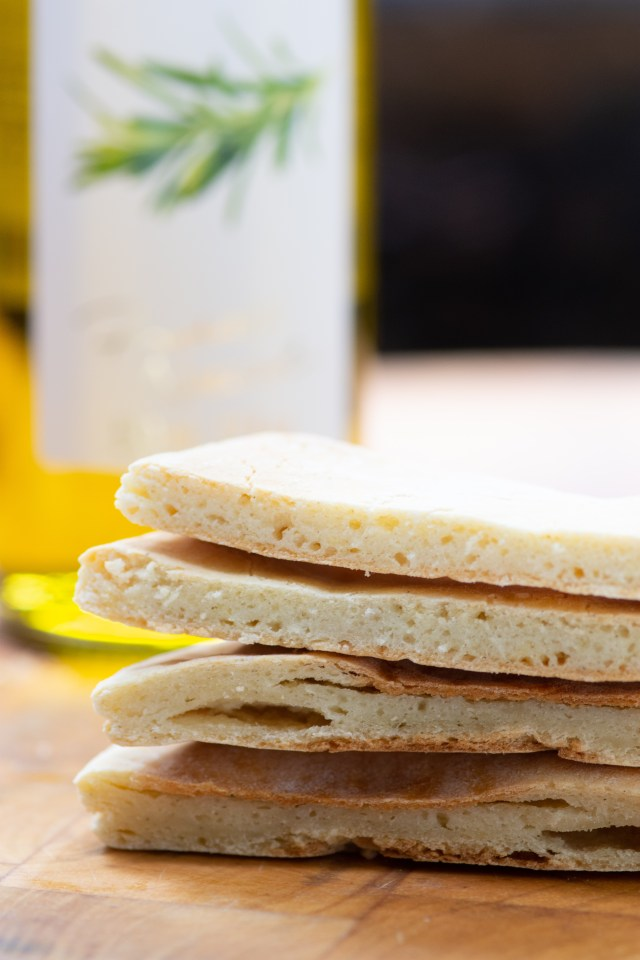 Kefir Flatbreads - Homemade slices of gluten-free bread, made with probiotic rich kefir, in under 30 minutes! | QueenofMyKitchen.com | #flatbread #glutenfree #glutenfreebread #probiotics #kefir #kefirrecipes #noyeastbread #flatbreads #glutenfreerecipes #bread