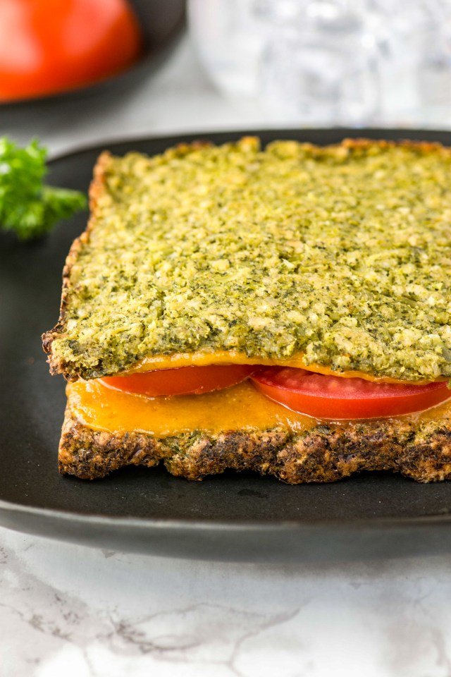 Broccoli Bread Slices - Healthy, gluten-free bread made from one of American's most popular vegetables. Each slice contains more than 1 serving of broccoli. | QueenofMyKitchen.com |#broccoli #veggies #glutenfree #glutenfreebread #glutenfreerecipes #healthybread #yummyveggies