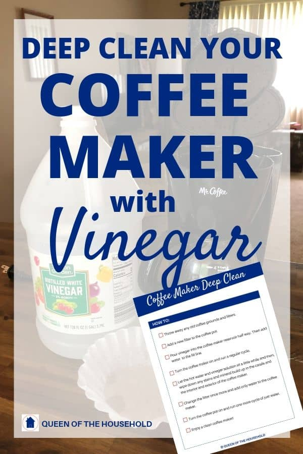 How to deep clean your coffee maker at home with vinegar the simple way!