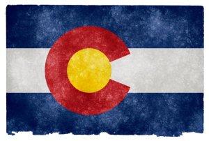 Colorado grunge flag