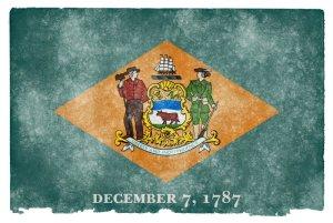 Delaware grunge flag