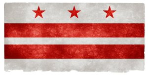 Washington DC grunge flag