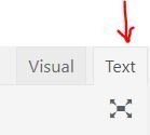 "WordPress post edit ""text"" tab"