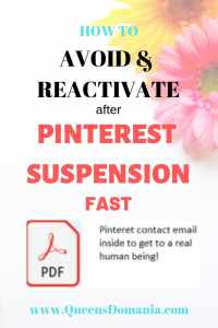 HOW TO REACTIVATE SUSPENDED PINTEREST ACCOUNT FAST