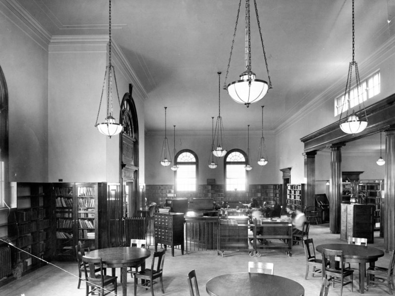 Woodhaven Branch Library, Interior View, 1935